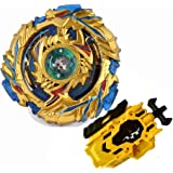 Bey Battling Spinning Tops Burst Blade Toys Gyro GOLD-B79 Drain Fafnir.8.Nt with Left-Right Booster Launcher