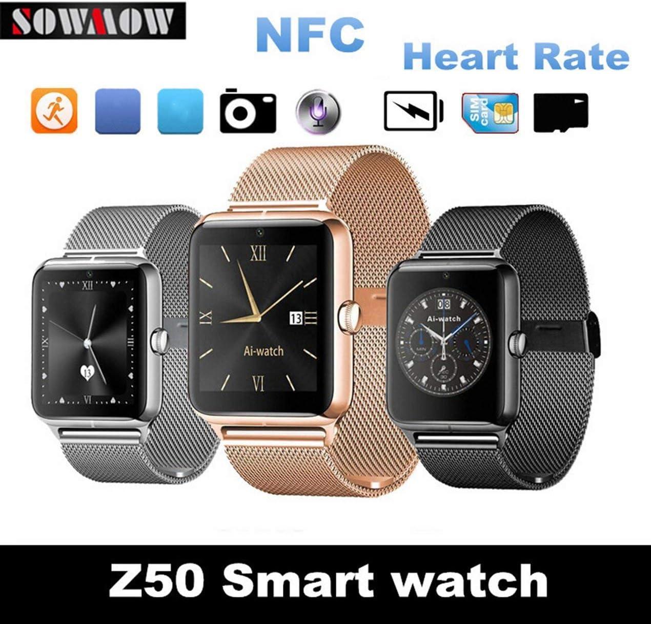 ZEERKEER Android Smart Watch Bluetooth Fitness Watch con Tarjeta ...