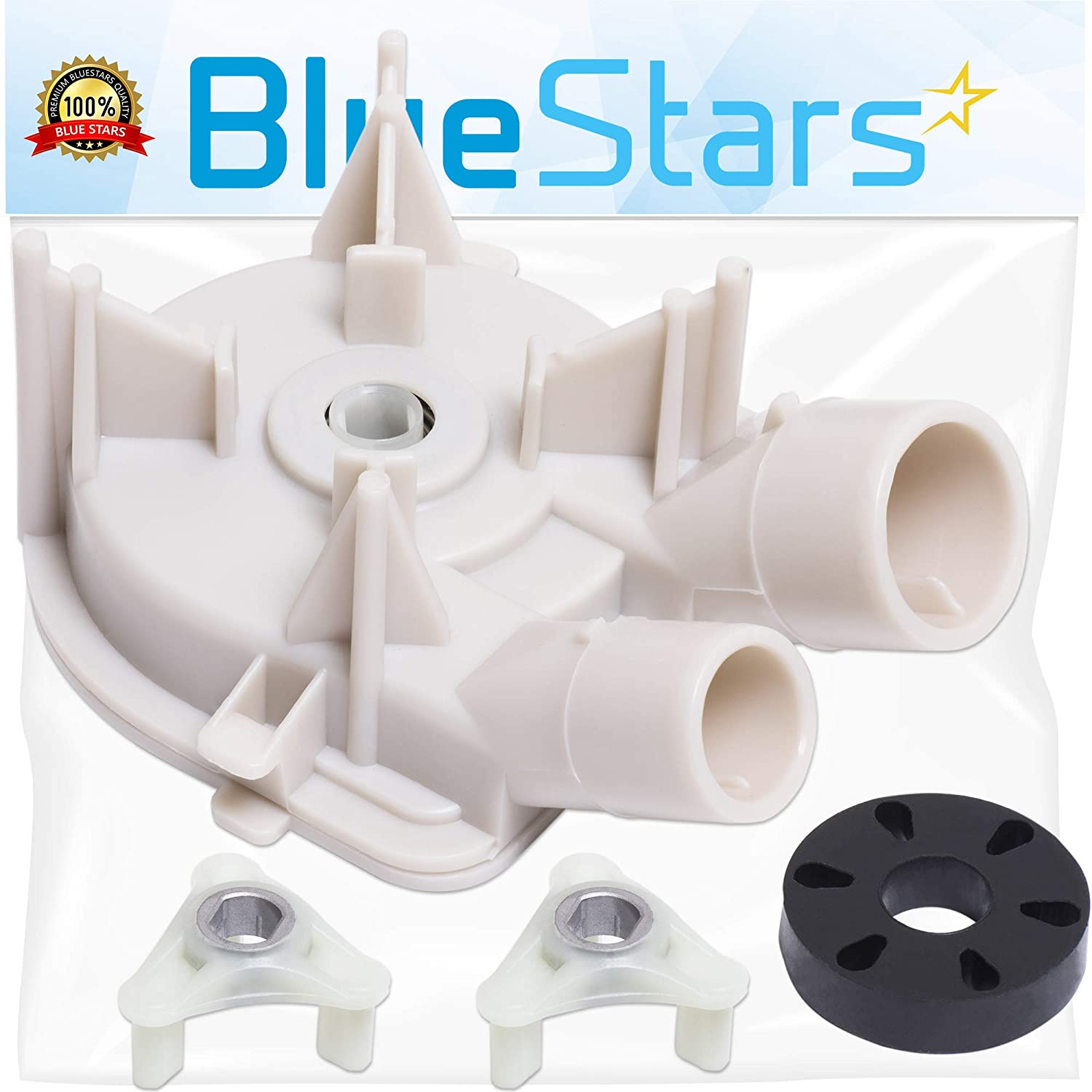 Ultra Durable 3363394 & 285753A Washer Drain Pump With Washer Motor Coupling Kit by Blue Stars - Exact Fit for Whirlpool Kenmore Washer