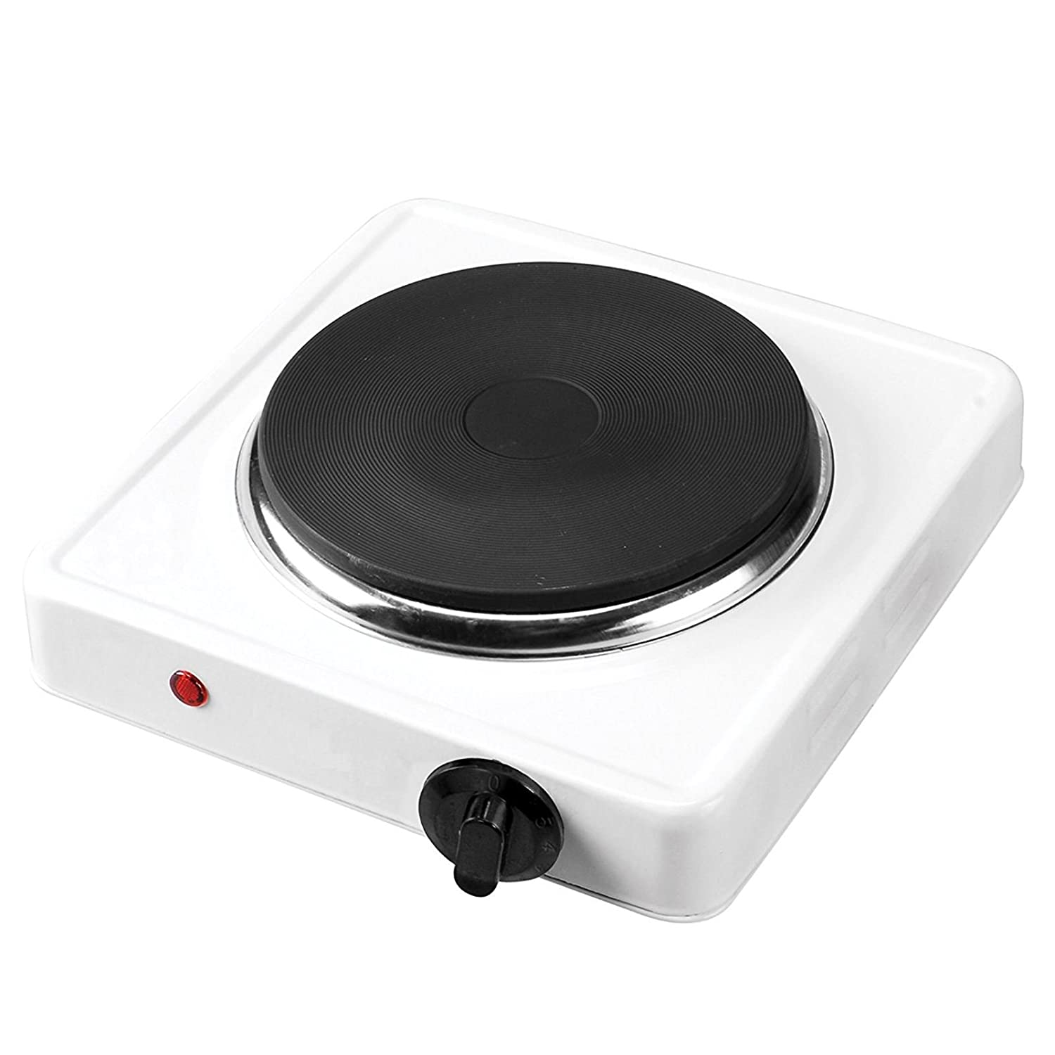 ASAB Portable 1000W Electric Hot Plate And Warmer Single Ring Table Top Cooker Kitchen Hob Caravan Camping Home Stove