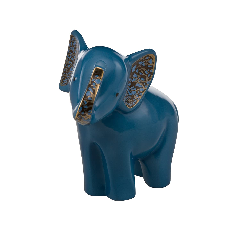 Goebel, Porzellan-Elefant, Solango, 8 cm x 15,5 cm x 15,5 cm, 70000021, Blau