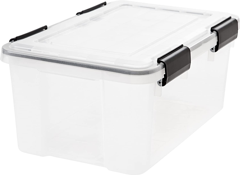 IRISWeathertight Storage Box, 19 Quart - Clear