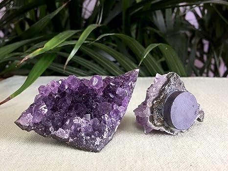 Amazon com : strakeshop 1 Amethyst Magnet Amethyst Geode Crystal