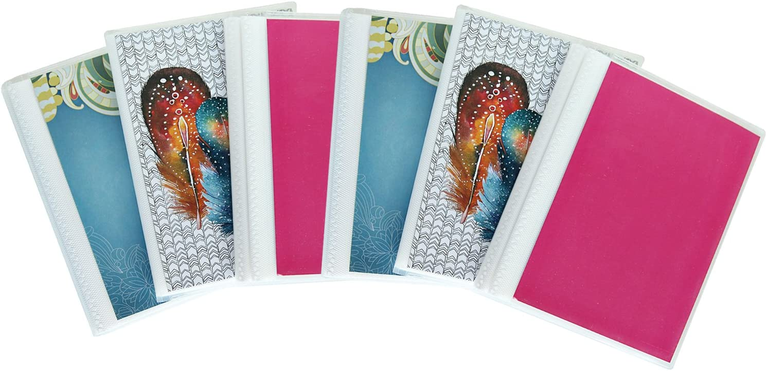 4 x 6 Photo Albums Pack of 6, Each Mini Photo Album Holds Up to 48 4x6 Photos. Flexible, Removable Covers Come in Assorted Patterns and Colors.