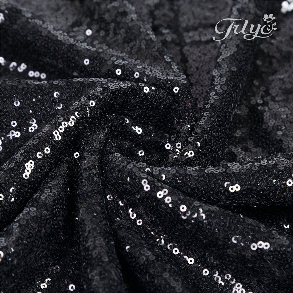 TRLYC 4 Pieces 12x72 Champagne Sequin Table Runners Wedding Party Table Decoration Accessories Home Textiles SETR06 #86 4pcs sequin runner