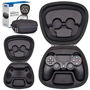 Sisma Game Controller Holder Case for PS4 Official DualShock 4 Wireless Controller, Heavy Duty Protective Cover Hard Shell Pouch Fit - Black