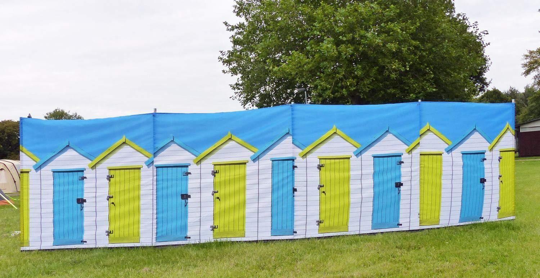 OLPRO Beach Huts 4 Poliger Windschutz mit Stahlstangen