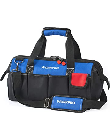 c17663e4b6 WORKPRO 18-inch Close Top Wide Mouth Storage Tool Bag with Adjustable  Shoulder Strap,