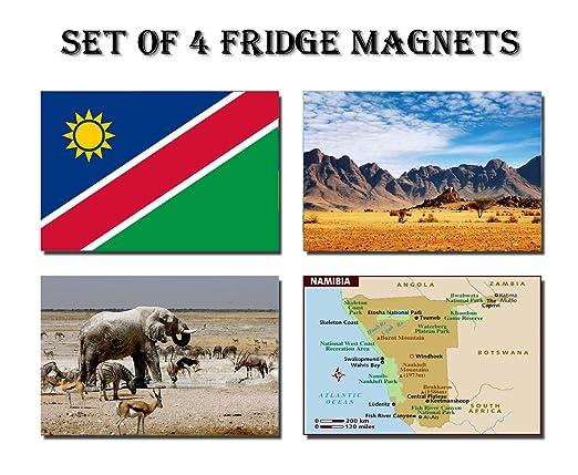 CFL SET OF 4 NAMIBIA CALAMITA DA FRIGO IMANES PARA NEVERA ...