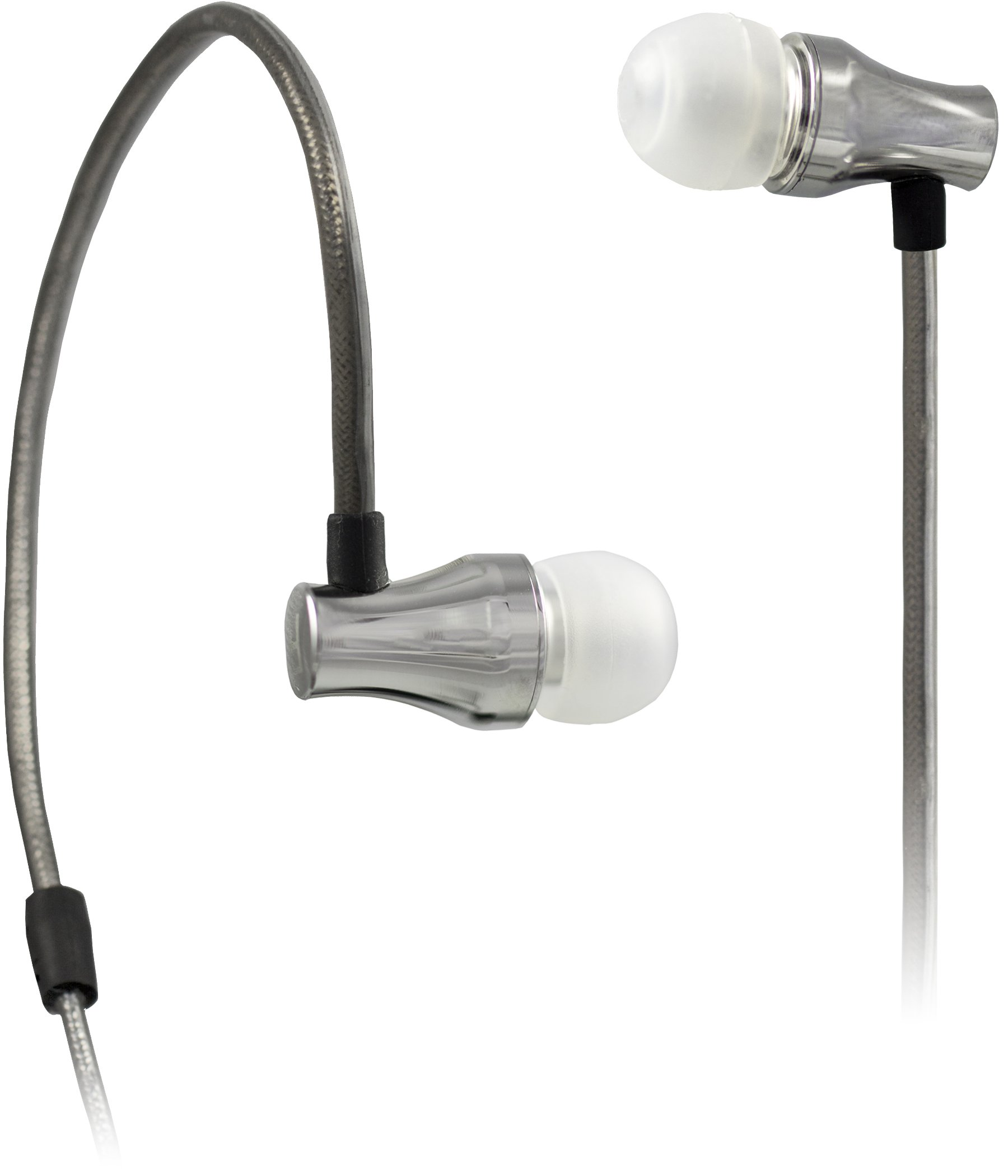 Wi Digital SEBD10 Wi Sure-Ears Professional Noise-Isolating In-Ear Monitors Optimized for Bass Drums and Keyboards - Polished Silver Brass by Wi Digital