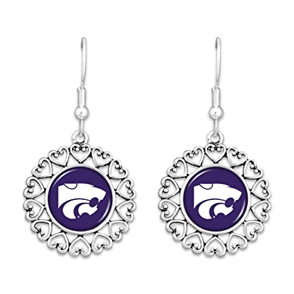 Amazon.com: Kansas State Wildcats Logo círculo arete con ...