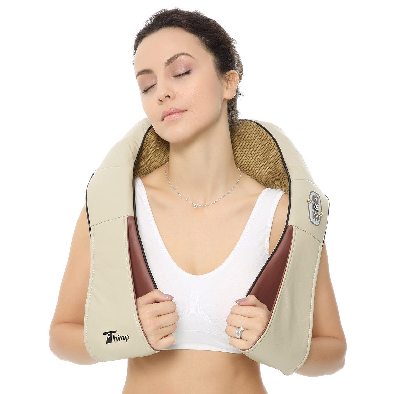Thinp Masajeador para Cuello Espalda Masajeador Shiatsu Calor para Hombros Pies Cinturas