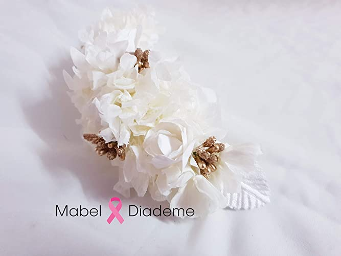 super servicio estilo clásico de 2019 seleccione para auténtico Mabel Diademe tiara comunion boda arras novia accesorio pelo tocados  ceremonia eventos glamour flores preservadas