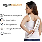 Lifelong LLM45 Rechargeable Tapping Body Massager With 3 Attachments (Cord-less), Brown