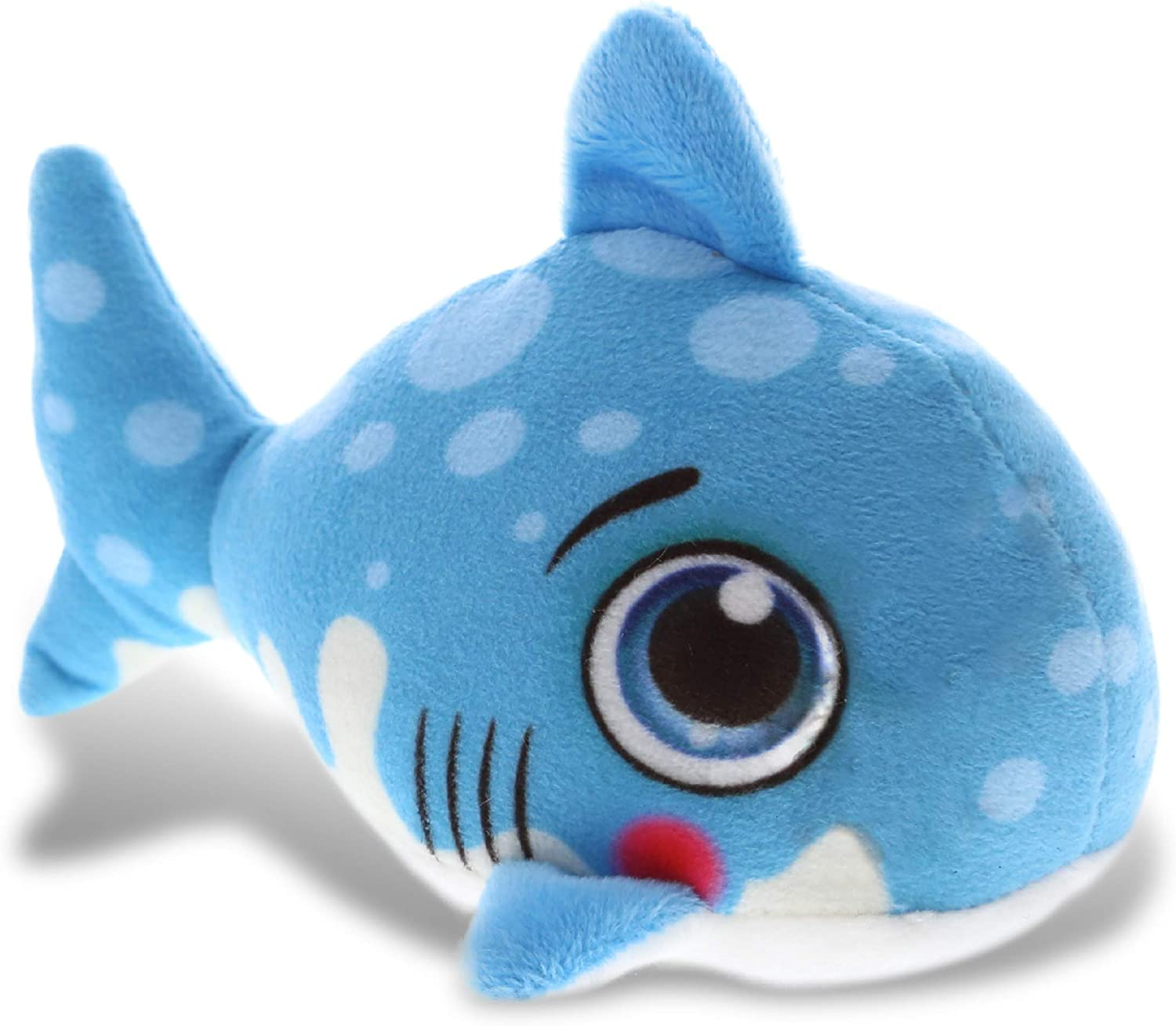 DolliBu Blue Shark Stuffed Animal Plush Toy, Kids & Adults Huggable Shark Cuddle Gifts, Cute Stuffed Animals for Toddler & Baby's First Sea Creature Plush, Super Soft Toys for Girls & Boys 5.5 Inch