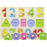Motrent Wooden Jigsaw Peg Puzzle Board Toy Number Educational and Learning Puzzles Toy