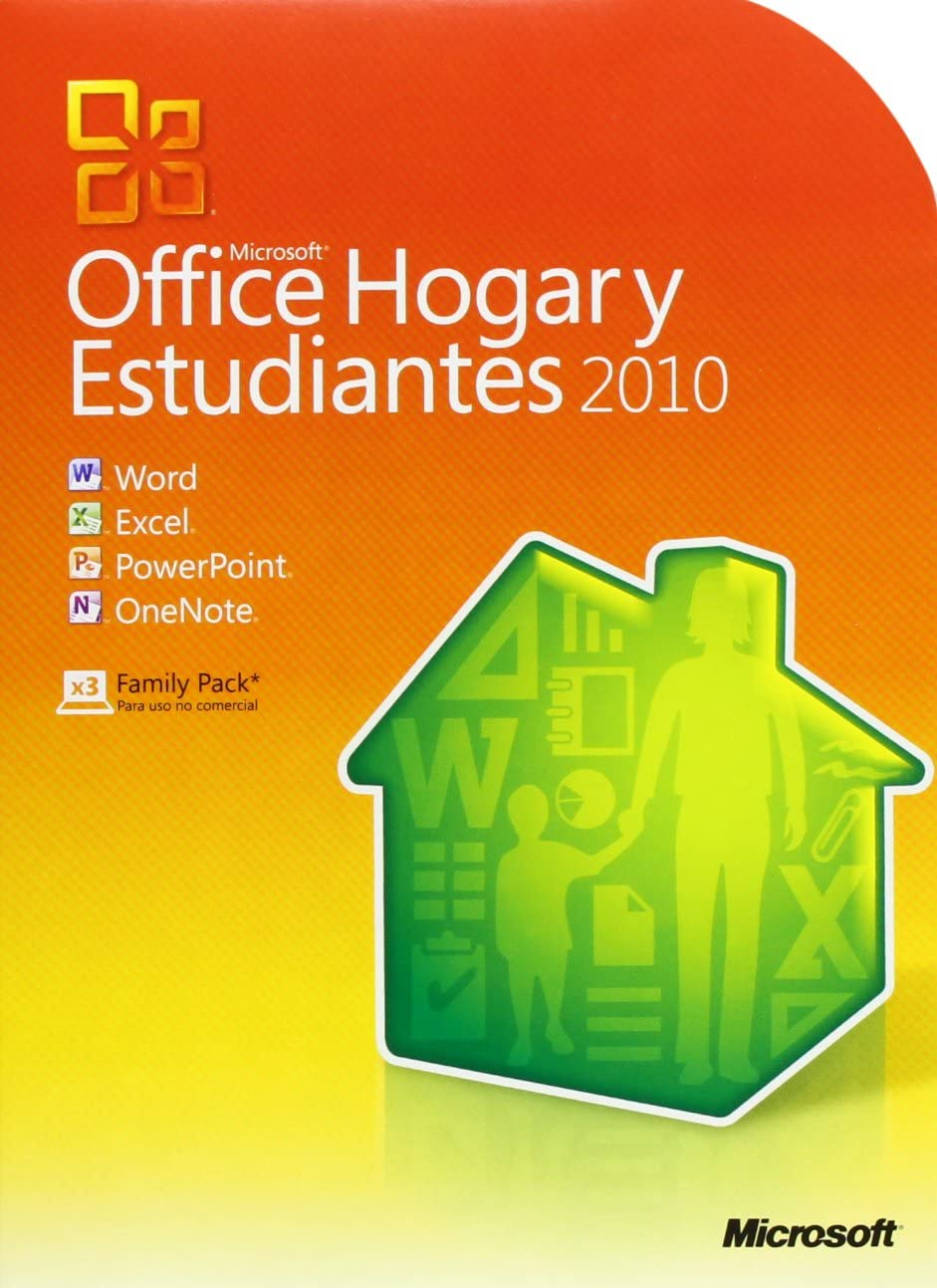 Microsoft Office Hogar y Estudiantes 2010 32-bit/X64 DVD5 para 3PC: Amazon.es: Software