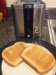 Amazon Com Vremi Toaster 2 Slice Stainless Steel Retro