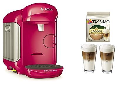 Cafetera Tassimo Vivy 2 de Bosch Bundle + vasos de latte ...
