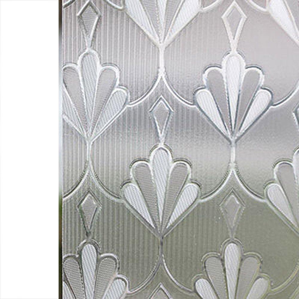 YETUGE 静電窓ガラス フィルム ステンドグラス 窓 ガラスフィルム のり不要  目隠し シート 装飾フィルム プライバシー対策 透明 UVカット 飛散防止 B07DGK688J 90*3000CM|6 6 90*3000CM