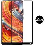 (2 Pack)Xiaomi Mi Mix 2 Vetro Temperato, EUGO 3D Full Coverage Vetro Temperato 9H Premio di Protezione Xiaomi Mi Mix 2 Pellicola Schermo, Nero