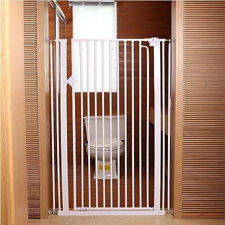 Barrera seguridad Puerta de mascotas extra alta y larga for perros, gatos, barrera for bebés, puertas, pasillos, puertas de seguridad for interiores, metal blanco, 120 cm de altura Barandilla resisten: Amazon.es: Hogar
