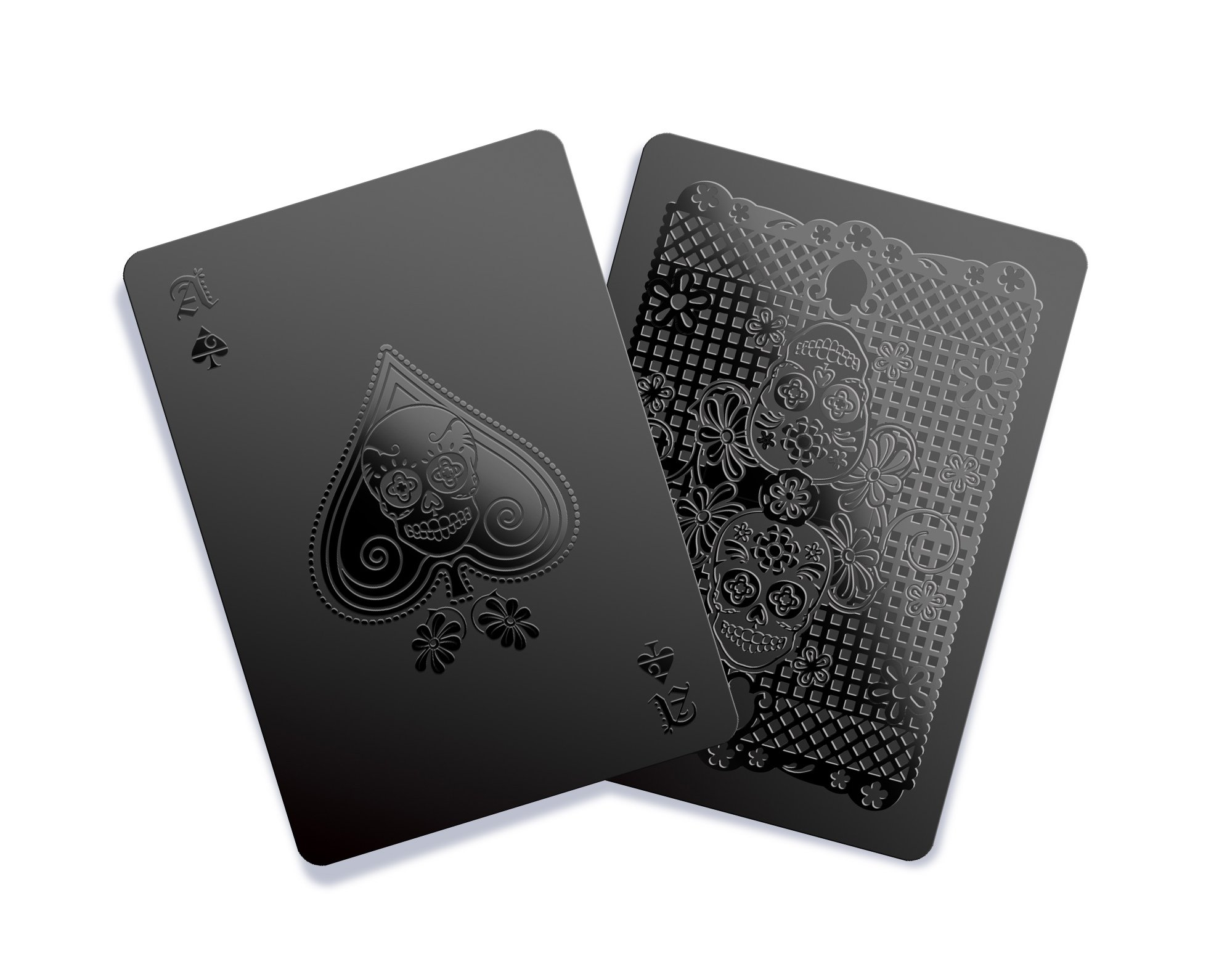 Gent Supply Black Playing Cards - Day of the Dead Edition