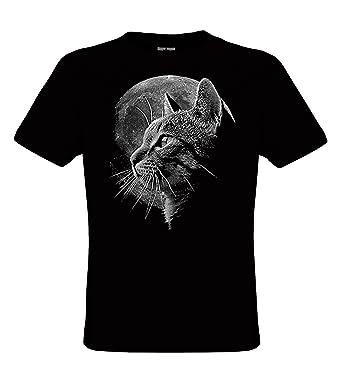 Cat Design T Shirts | Darkart Designs Cat Moon Katze Mit Vollmond T Shirt Fur Kinder Und