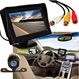 Ouneed® Universal Waterproof Car Rear View Reverse 4.3'' TFT LCD Car Rear View Backup Monitor+Wireless Parking Night Vision Camera
