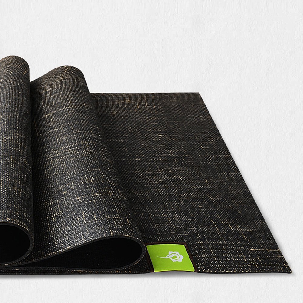 Yoga mat Natural Linen Rubber Anti-Skid Fitness Mat, Color Optional (Color : A)