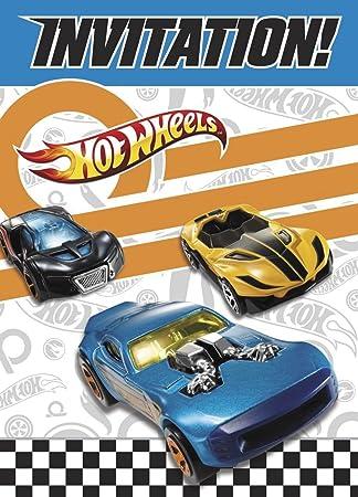Amazon Com Hot Wheels Invitations 8ct Toys Games