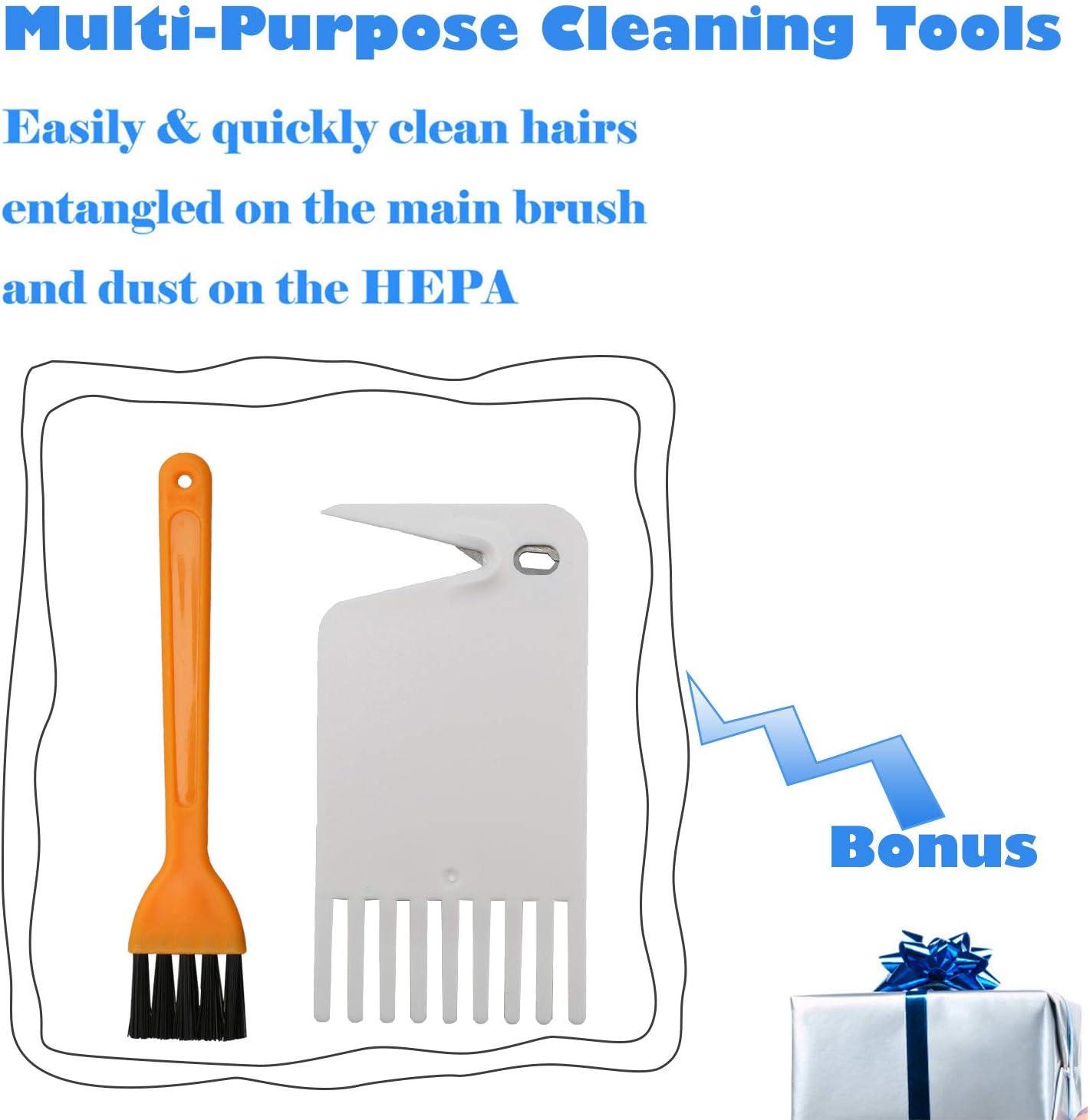 RONGJU Replacement Accessories Kit for Roborock S5 S6 E20 E25 E35 S50 Xiaomi Mi Mijia Robotic Vacuum Cleaner 4 Hepa Filter /& 2 Mop Cloth) 11 Pcs Parts(1 Main Brush 4 Side Brush