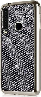 Herbests Compatible avec Coque Samsung Galaxy A7 2018 Silicone Paillette Housse Bling Glitter Etui Ultra Mince Case Cover Ultra Fine Soft Gel TPU Caoutchouc Bumper Protection,Rose