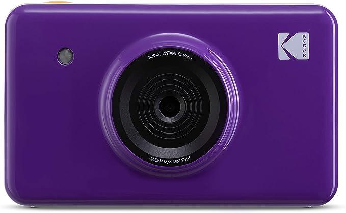 Kodak Mini Shot Wireless Sofortbild Digitalkamera Lila 2x3 Zoll Druck Mit Patentierter 4 Pass Drucktechnologie