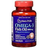 Puritans Pride Omega-3 Fish Oil 1000 Mg, 100 Count