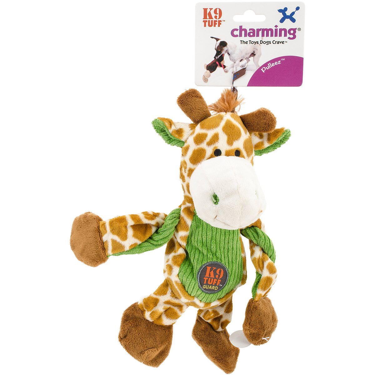 Charming Pet Products Pulleez Giraffe Plush Dog Toy
