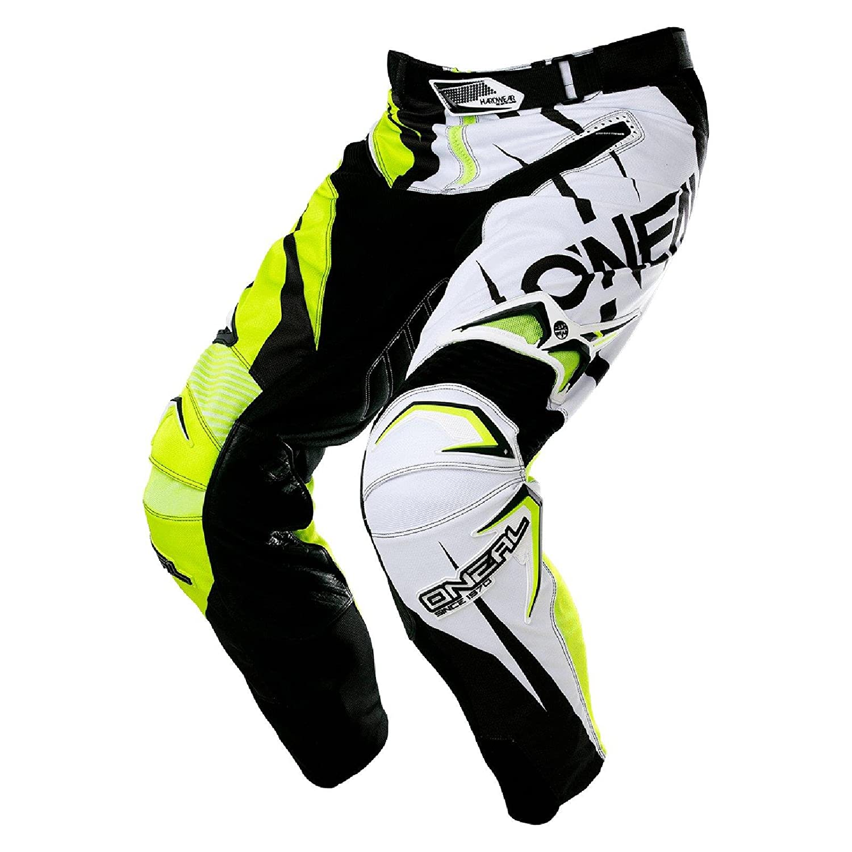 O& 039;Neal Hardwear MX Hose JAG LE Schwarz Neon Gelb Motocross Enduro Cross Motorrad Quad Pants, 0132H-9