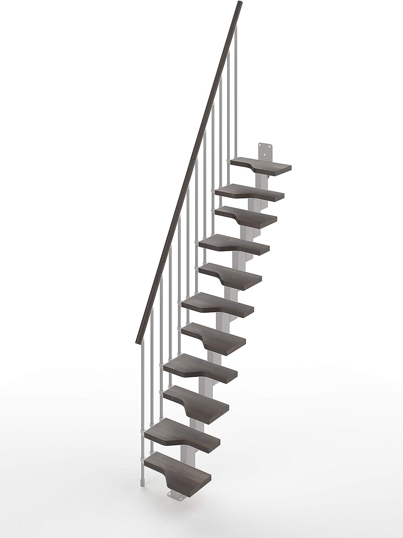 Gamia - Escalera recta para ahorrar espacio, color gris: Amazon.es: Bricolaje y herramientas
