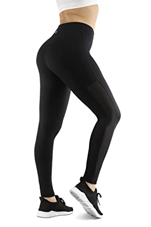 Mio Yoga Pants for Women,Side Pockets, High Waist, Tummy Control Leggings
