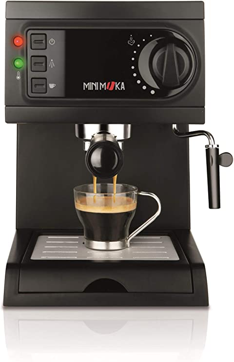 Mini Moka Minimoka CM-1622 Cafetera Espreso 15 Bar / 1050 W / 1,25 L, 5.283441 Cups, Acero Inoxidable, Negro: Amazon.es: Hogar