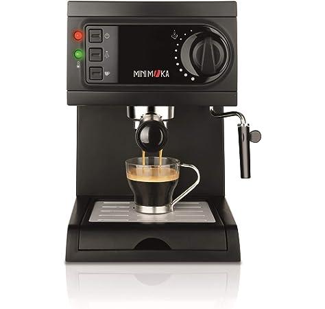 Mini Moka CM-1675 Cafetera Espreso 15 Bar / 1050 W / 1,25 L, 5.283441 cups, Acero inoxidable: Minimoka: Amazon.es: Hogar
