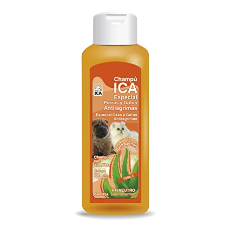 ICA CHPM24 Champú Anti Lágrimas con Aloe Vera para Perros y Gatos