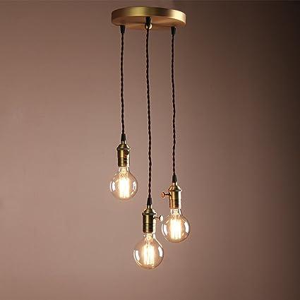 Amazon.com: Permo 3-lights Mini Cluster Chandelier Hanging Pendant ...