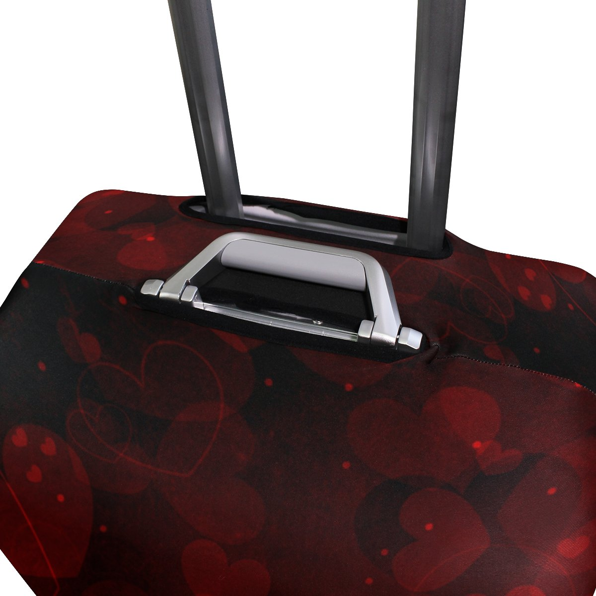 ALAZA Hearts Valentine's Day Wedding Luggage Cover Fits 30-32 Inch Suitcase Spandex Travel Protector XL by ALAZA (Image #3)