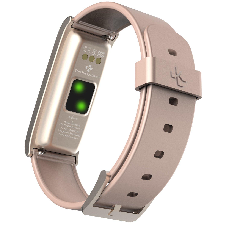 MyKronoz ZeFit 4 HR Traqueur dactivité avec capteur de rythme cardiaque, écran couleur tactile et notifications smartphone: Amazon.fr: High-tech