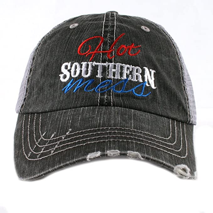 75a2033765e Hot Southern Mess Women s Mesh Trucker Hat Cap by Katydid at Amazon Women s  Clothing store