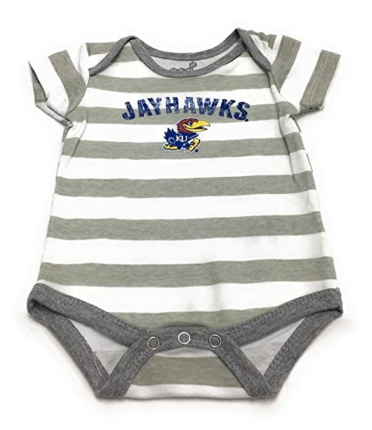 1bfa3431c Amazon.com: Outerstuff Baby Kansas Jayhawks 3 Pack Creeper Bodysuit Set:  Clothing