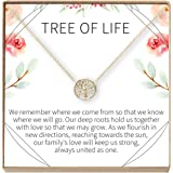 Dear Ava Tree of Life Necklace Gift: Family Tree Necklace, Pendant, Charm, Generations, Tree