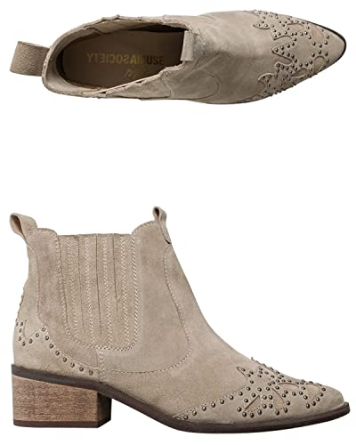 8cbe3ea34 Amazon.com | New Matisse Women's X Amuse Society Backstage Bootie Suede  Leather Natural | Sandals
