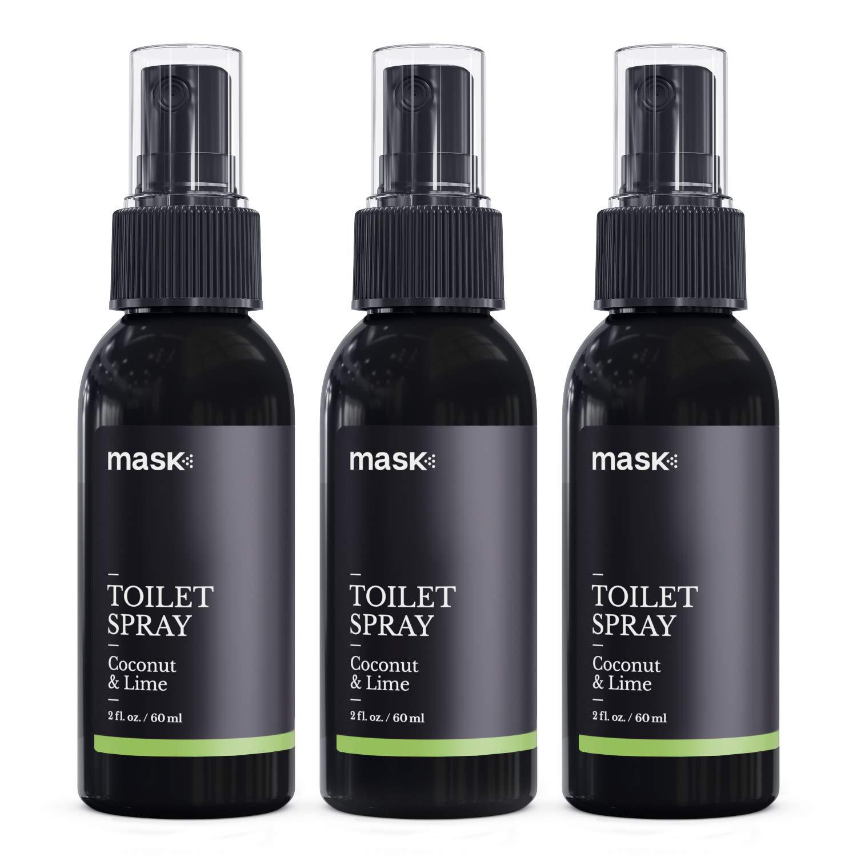 Mask Toilet Spray, Coconut & Lime, 2-Ounce (3-Pack), Deodorizer Bathroom Spray by Mask